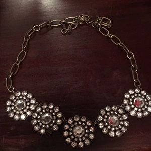 Brushed gold statement necklace